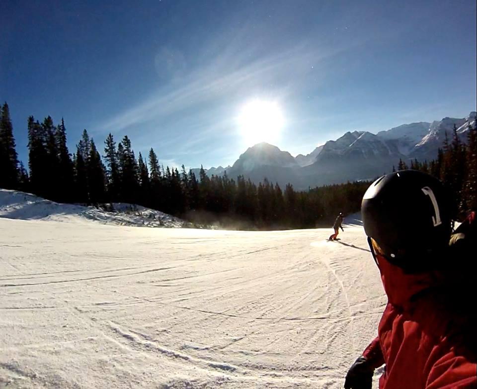 Snowboarding Lake Louise travel blog
