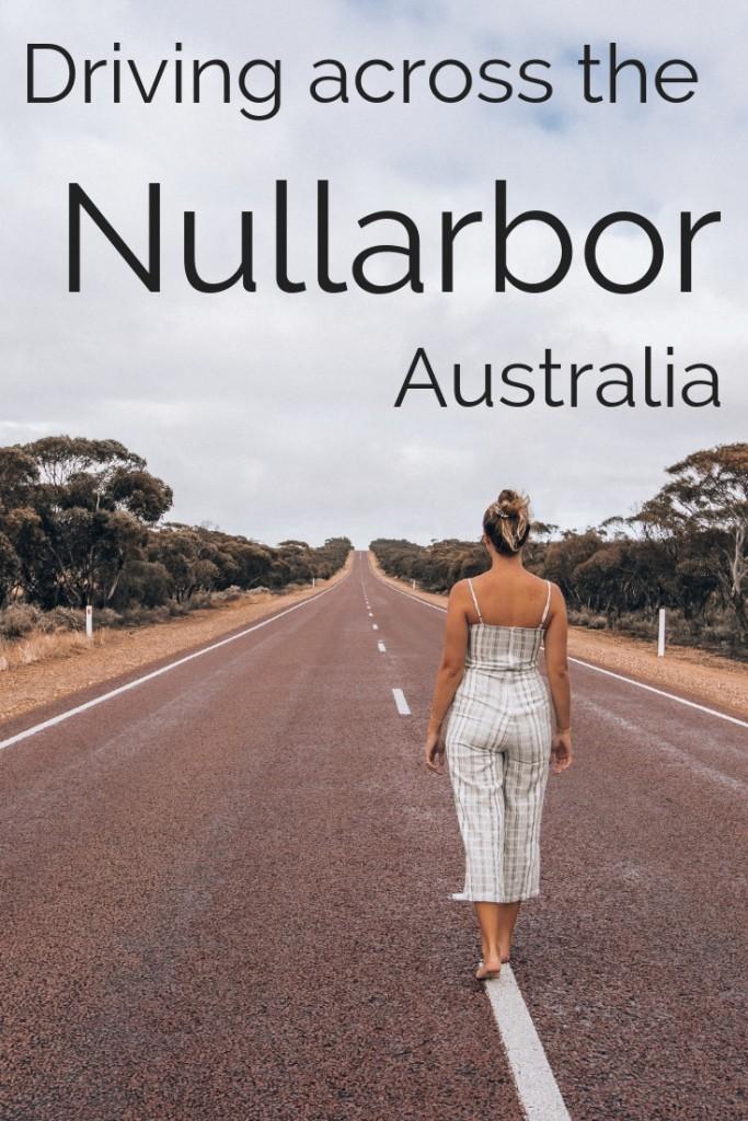 Driving across the Nullarbor Australia